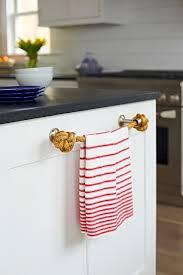 beach bungalow kitchen with towel holder cottage kitchen