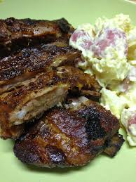 tracy cooks in austin smoked bbq pork ribs in my masterbuilt