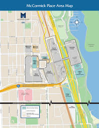 Chicago On A Map by Mccormick Place Chicago Illinois