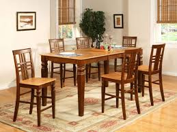 distressed black counter height dining room table set pub tables