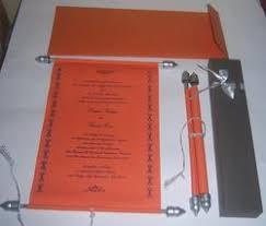 Scroll Invitation Rods Handmade Paper Wedding Card Exporter From Mumbai