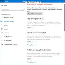 enable windows defender block at first sight in windows 10