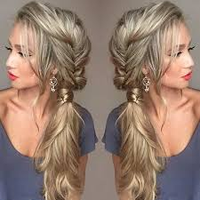 21 pretty side swept hairstyles for prom messy fishtail braids