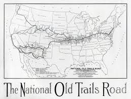 Old Route 66 Map by The National Old Trails Road Travel Magazine May 1915 At