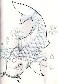 koi koi fish pencil and in color koi koi fish