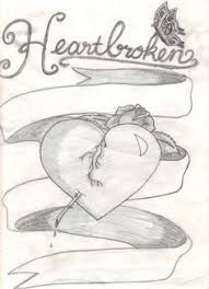 depresive draw on pinterest sad drawings broken heart drawings