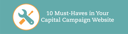 10 Must Haves For Your by 10 Must Haves In Your Capital Caign Website Nonprofit Garden