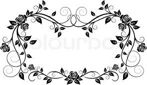 ornamental frame with flowers stock vector colourbox