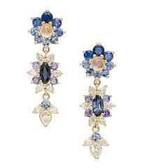 dangle diamond earrings language of flowers giardinetti flowers drop earrings navy palette