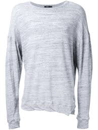 bassike round jersey sweatshirt grey marl men clothing bassike