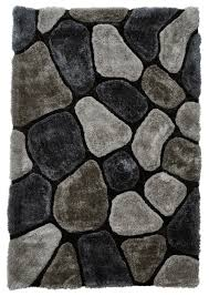 pebble rug grey cobalt pebble rug shaggy pile noble house soft hand tufted