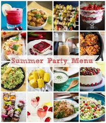 Summer Lunch Menu Ideas For Entertaining - summer party menu ideas natashaskitchen com