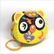 1 set cute animals children handmade bags multicolor eva foam