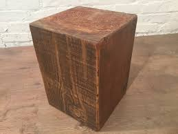 autumn sale hand made reclaimed pine plank top solid pine cube