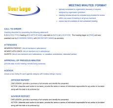 meeting minutes template sample staff meeting minutes template