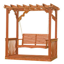 shop leisure time products 2 seat wood adirondek pergola swing at
