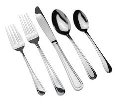 home trends 40 piece 18 10 stainless steel flatware set walmart