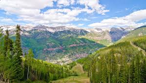 telluride colorado the most beautiful city in the usa stock
