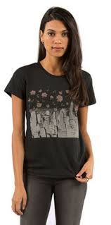 paint the city womens black t shirt