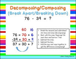 grade subtraction strategies posters 2 digit with regrouping