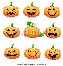 halloween clipart creation kit pumpkin pumpkin funny faces halloween cartoon different stock vector