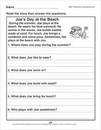 reading comprehension passages and questions for december fun