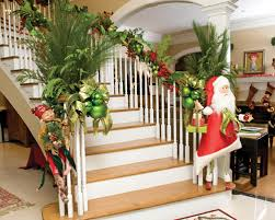Decorating Banisters For Christmas A Whole Bunch Of Christmas Staircase Decorating Ideas U2014 Style Estate