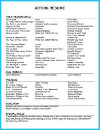 musical theatre resume template saneme