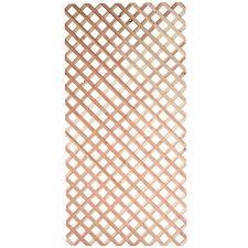 3 4 in x 48 in x 8 ft square pressure treated wood lattice