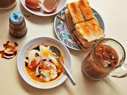 singapore style soft cooked eggs with kaya jam and toast recipe