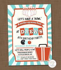 items similar to bowling birthday party invitation printable