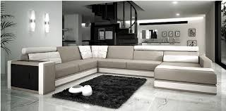 canapé haut de gamme canapé angle en cuir vachette blanc