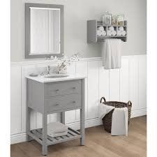44 Inch Bathroom Vanity Alaterre Harrison Carrera Marble Sink Top With Grey 24 Inch Bath