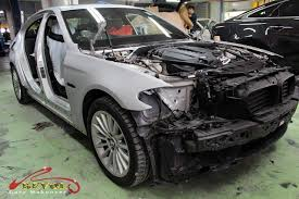 bmw 535i full car colour change spray painting with zetough