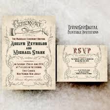 rustic vintage wedding invitations vintage wedding invitation 1800s wedding invitation