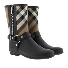 flat biker boots burberry lf richardson flat ankle boot house check leather black