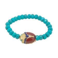 turquoise bead bracelet images Red jasper turquoise egyptian scarab bead bracelet jpg