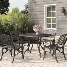 Wayfair Patio Dining Sets Metal Patio Furniture You Ll Wayfair
