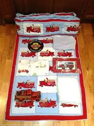 Firefighter Crib Bedding Truck Nursery Decor Best Room Images On Bones Sewing