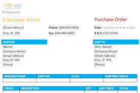 Microsoft Excel Purchase Order Template Purchase Order Format 1 0 Dotxes