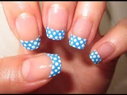 easy summer polka dot nail tutorial youtube