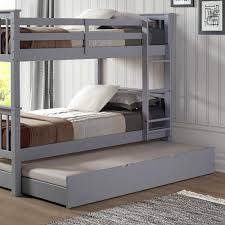 Bunk Beds With Trundle Walker Edison Furniture Company Grey Solid Wood Twin Trundle Bed
