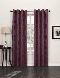Energy Efficient Curtains Amazon Com Sun Zero Travis Modern Wave Print Blackout Curtain