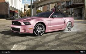 pink convertible jeep wow such a sleek pink and black mustang convertible jw cars