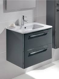 mara gloss grey 60cm vanity unit 2 drawer and basin bathroom