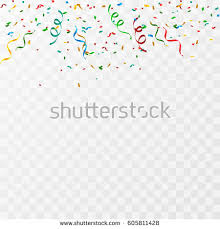 party confetti colorful party confetti on transparent background stock vector