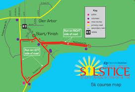 map of arbor glen arbor solstice half marathon 5k endurance evolution