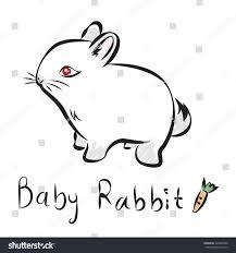 vector illustration outline lovely bunny on stock vector 429894988