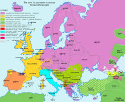 Map Of Mediterranean Europe by European Maps Showing Origins Of Common Words Business Insider