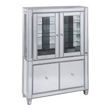 southern enterprises china cabinet southern enterprises mirage curio cabinet in matte silver cm9162